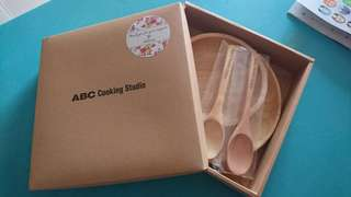 Abc cooking Studio limited edition wooden utensils set
