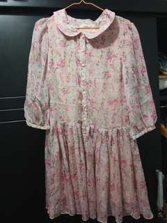 Flowery Pink Dress #mausupreme