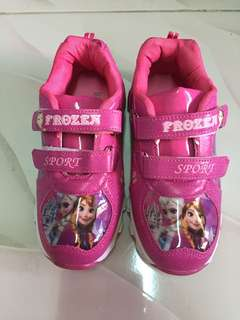Frozen rubber shoes for girls