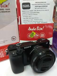 Kamera Sony a6000 bisa Kredit, DP 10%, Gratis 1x cicilan