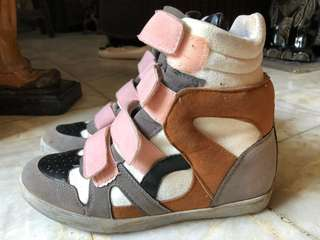 PRICE IS NEGOTIABLE: WEDGE SNEAKERS FOR SALE