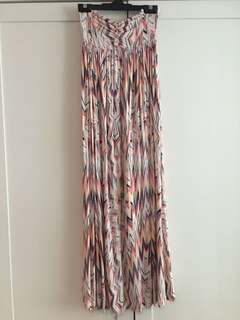 Ella Moss Ikat tube long dress XS