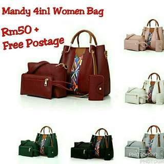 Mandy 4in1 Handbag Set Women