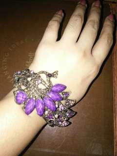 Purple Peacock Elegant bracelet