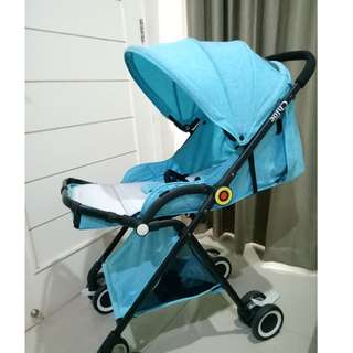 Preloved like new Stroller Baby Chloe warna biru