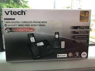 室內無線雙子電話,一年保養,100% new