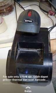 Printer termal dan san barcode