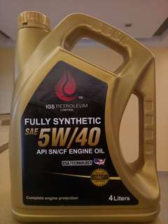 IGS fully synthetic Engine Oil 5W/40