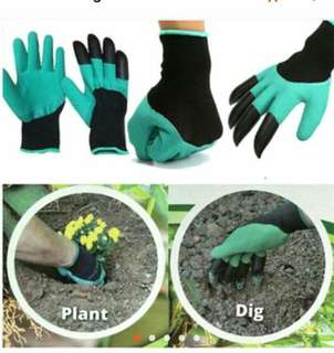 Garden Gloves with 4 ABS plastic for gardening planting