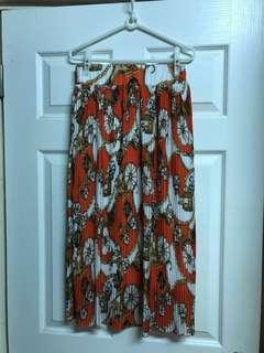 🚚 雪紡長裙(幾何圖型橘色)