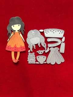 Doll #2 scrapbook Cutting Dies