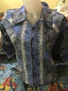 Kemeja kerja blouse batik