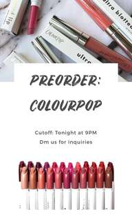 COLOURPOP PREORDER