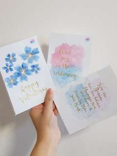 [SALE] [INSTOCK] Watercolour Calligraphy (gold wordings)