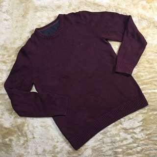 top - boyfriend maroon sweater
