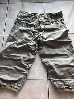 Brown Pedal Shorts