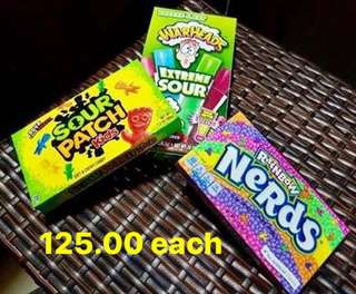 Nerds, Warheads and Sourpatch