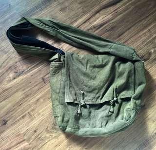 Army Green Messenger Tote Bag