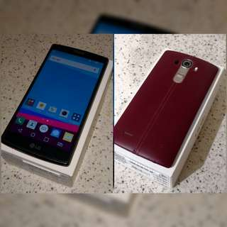 LG G4 leather red back dual sim
