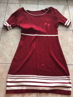 Knitted Maroon Dress