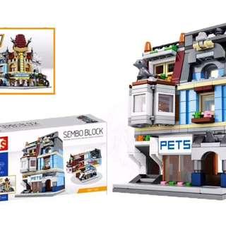 Mainan Lego Block SEMBO MINI PET SHOP 305PCS - SD6301