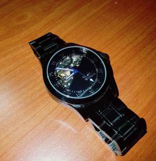 Full Black Rare Skeleton Watch for Men