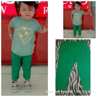 Green Soft Pants