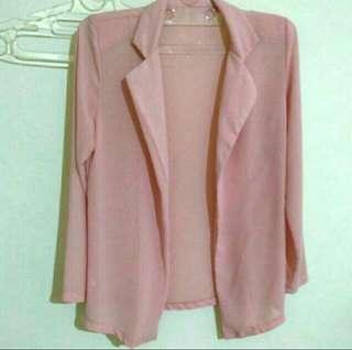 Pink flowy blazer