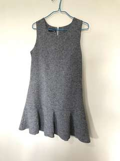 Grey with blue speckle dress