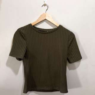 H&M Olive Green Top