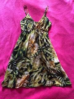 Green beach dress