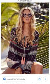 Le salty label boho blouse