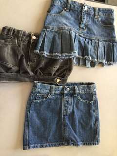 Buy 2 Take 1‼️Denim collection - girl's shorts/skirts.