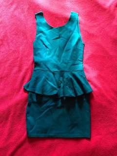 Peplum backless dress