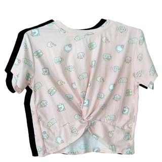 Pink Iconic Kawaii Korean Pastel Knot top /Blouse