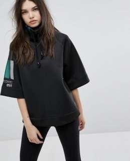 Adidas EQT High neck Sweater 黑款五分袖高領上衣