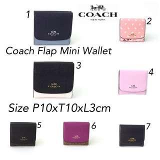 Coach Flap Mini Wallet