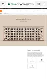 BNIB MI Bluetooth Speaker- Gold