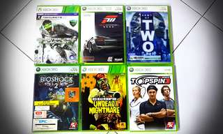 Xbox 360 game cds. 1 for 9. Mix and match to get more discounts.