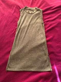 Light brown turtle neck dress