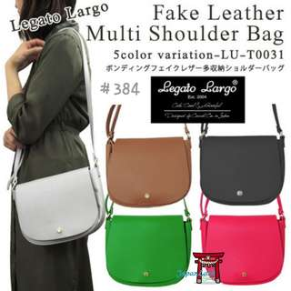 #384 Legato Largo Leather Shoulder Bag