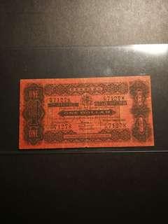 Straits Settlement $1 1921