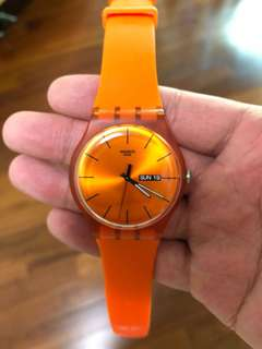 Swatch orange watch 98% new