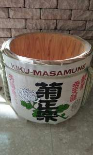Authentic sake barrel