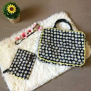 🔰 MnM # 17 : Sunflower Make up Bag & Pouch Bundle