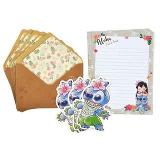 日本迪士尼預訂品 Stitch Day 信紙set