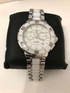 Tag Heuer Formula 1 F1 Chronograph Watch White Ceramic with Diamonds