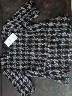 Knit zara blouse (masih ada price tag nya)