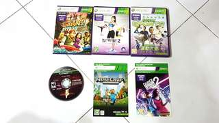 Xbox 360 game cds. 1 for 9. Mix and match to get more discounts.  Dance Central 2 & Minecraft are not available.