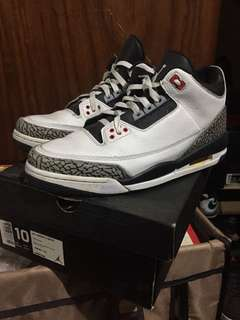 Air jordan 3 White cement (PREMIUM )